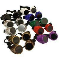 Verano de Steampunk de la vendimia de las gafas de soldadura victoriano gótico punky cibernético gafas de sol de conducción Viajar Gafas de sol Gafas de piloto de la venta caliente