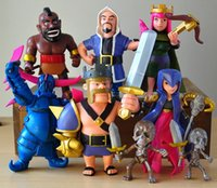 action figures games - 1lot Game Clash of Clans Anime Mini Figurine Game Soldier PVC Action Figures model Collection Toys For Boys Gift