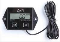 Wholesale 12V CAR LCD display Hour meter motorcycle Tachometer Stroke gasoline Engine Spark For Boat Atv motorcycle gasoline engine Lawn mower