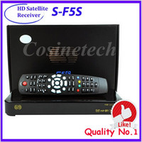 Wholesale HD full1080p Skybox F5S satellite TV receiver support usb wifi youtube Multilingual Digital video broadcast drop shipping DVB Set top box