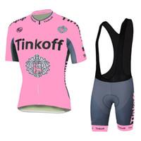 Wholesale 2016 Women Style Cycling Jerseys Pink Tinkoff Saxo Bank Bike Wear Short Sleeves Black White None Bib shorts Toure De France XS XL