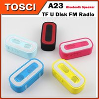 Wholesale Mini Portable A23 Wireless Bluetooth Speaker Subwoofer HiFi speakers Support TF Card U Disk FM Radio Stereo Music Player Sound Box Speakers