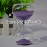 Wholesale 2015New pc Purple Miss Puff Glass Hourglass Sand Timer Fashion Home Decor Birthday Minute Hourglass Love Valentine s Day Gift