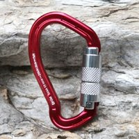 auto lock gate - New Climbing Carabiner KN Auto Gate Climbing Carabiner Carabiner Screw Lock Bottle Hook Buckle Hanging Padlock