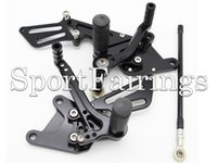 Wholesale Black Adjustable CNC Billet Rearset Rear Set Footrest Foot Set Footpegs Foot Peg For Kawasaki ZX10R ZX R Motorcycle