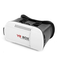 Wholesale VR Box Google Cardboard Head Mount Oculus Rift D Games Headset Plastic VR Virtual Reality D Glasses for smartphone