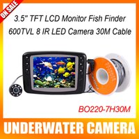 underwater fishing camera - 30M Underwater Fishing Camera IR LED CCTV Camera With Inch Color Monitor Fish Finder Night Vision Usage Time Hours