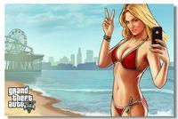 auto custom stickers - Grand Theft Auto V Game Classic Fashion Movie Style Custom Poster Print Size x60 cm Wall Sticker U5278468
