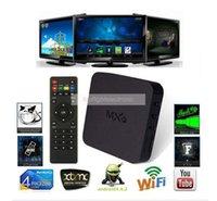 Wholesale MXQ TV BOX Pre installed Kodi XBMC Amlogic S805 Quad Core WIFI IPTV Android Smart TV Box