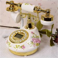 Wholesale classic Rustic antique telephone ceramic vintage telephone fitted fashion novelty retro phone