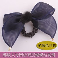 imported fabric - Xayakids hair clips barrettes The New South Korea imported jewelry ornaments double Bow Ring Hair rope ribbon Korean headdress