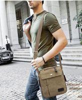 Wholesale 2015 Mens Canvas Leather Satchel School Military Shoulder Bag Messenger Bag pieces