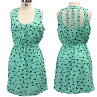 Cheap Cheap Cloth And High Quality In China Loose-fitting Green Sweet Women Mini Dress Eagle Pattern Cotton Girl's Dress Free Shipping