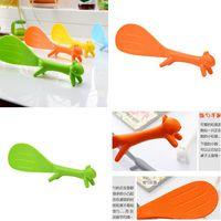 Wholesale Via Fedex EMS Cute Plastic Handle Squirrel Spoon Vertical Non stick Rice Spoon Creative Rice Shovel