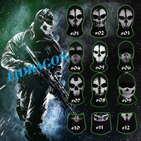 Costume Accessories call of duty - Call of duty Ghost Masks Skull Balaclava Paintball Outdoor Ski Army WarGame Airsoft Military Tactical Game Hats Full Face Mask