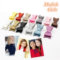 Cheap Barrettes glitter hair clips Best artificial leather Solid leather hairpins