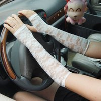 Wholesale Lady Anti UV Lace Summer Arm Sleeves Oversleeve Sun Protection Outdoor Driving