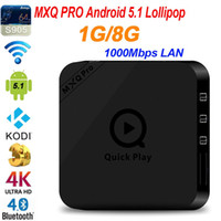 Wholesale Version MXQ Pro Andorid TV BOX Amlogic S905 M LAN GB GB GHz WiFi BT4 KODI Better than MXQ