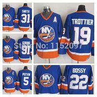 Wholesale Islanders Jersey Butch Goring Billy Smith Mike Bossy Bryan Trottier Denis Potvin New York Islanders Hockey Jerseys