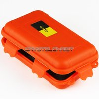 aluminum fly boxes - small Orange Plastic Waterproof Airtight Case Fly Fishing Container Storage Travel Box