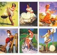 artist papers - Artist Gil Elvgren American and Europe Retro Vintage Poster Sexy Beauty girls illustrator Postcards