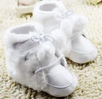 ball winter boot - 2015 winter white plush ball girl waist warm boots Neonatal plus velvet leisure toddler boots pair CL