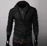 men winter jackets - 2015 Jacket Mens Spring Baseball Military Bomber Jackets Army Windbreaker Denim Men Coat Brand Winter Veste Homme Down Jaqueta