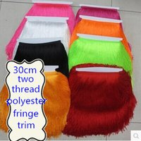 Wholesale 10Meter CM Long Polyester Two Thread Tassel Fringe Trim African Lace Ribbon Cord Guipure Sew Latin Dress Accessory Curtain Red