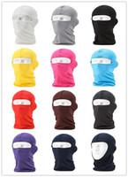 Wholesale Lycra Balaclava Mask Windproof Full Face Neck Guard Masks Headgear Hat Riding Hiking Outdoor Sports Cycling Masks UV Protect Full Face Mask