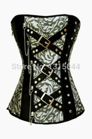 Wholesale Classic Jacquard Corset with Rivets and Chain LC5278 Cheaper price Drop Shipping