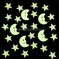 glow in the dark stars - New Glow in the Dark Stars Moons Baby Kids Room Bedroom Self adhesive Pads