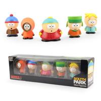 venda por atacado bonecos de plástico-South Park Series 1Set 2.3 '' 5pcs / set Dropship Mini Figuras de Ação Gift Sets PVC Dolls Plastic Toy Crianças da Colecção