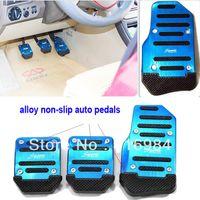 Wholesale Blue Non slip Aluminum Alloy MT Car Pedal Pad Cover accelerator pedal