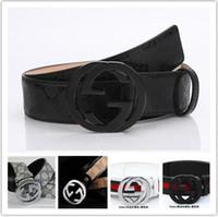 Wholesale 2016 new hip brand buckle g designer belts for men women genuine leather gold cinto belt Men s