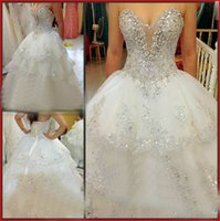 rhinestone applique - 2014 Cheap Ivory luxurious Rhinestone Beaded Appliques Sweetheart Wedding dresses A Line Wedding Dresses Bridal Gowns