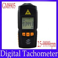 Wholesale Digital tachometer GM8905 digital speedometer tachometer measure range rpm MOQ