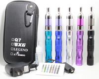 Wholesale Kts Gold Kit - X6 KTS Electronic Cigarette Kits Protank Atomizer 1300mah X6 Battery e cigarette Kit in Zipper Carrying Case