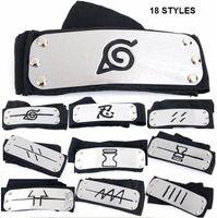 accessories village - 18 styles Naruto Kakashi Sasuke Sakura Headband Leaf Village Headband COS Props Accessories