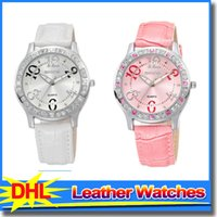 beauty leather straps - Brand New SKONE Fashion Women Watches PU Leather Strap Elegant Beauty Watch Crystal Wristwatch For Ladies
