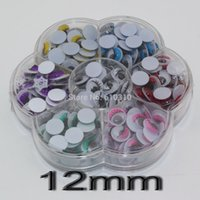 Wholesale mm Multicolor eyelash eye Movable toy Eye Box Enough Quantity Plastic eye googly eyes