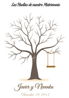 Wholesale Wedding Decorations Personalize Wedding Tree Fingerprint Guestbook Sign in Figure with inkpads Swing Thumbs Party Guest Book