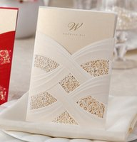 Wholesale Wedding invitations card Creative personality wedding supplies Blank page whiter and red color optional pieces