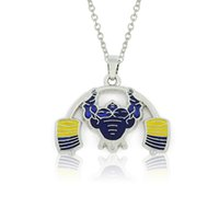 american fitness wholesalers - Enamel Weightlifting Pendant Necklace Fitness Jewelry For Men