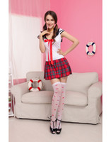 Wholesale Cosplay Sexy Maid Costumes For Women Sex Uniforms School Girl Skirt Sweetheart Anime School Girl Costume S4263