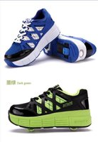cotton fabric roll - 2015 new junior children heelys roll children s shoes Boy Girls roller double wheel shoes sport shoes baby child BY0000