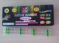 Wholesale Colored Rubber Bands For Bracelets - free shipping rainbow loom kit (with 1 hook 24 clips 600 mixed colored rubber bands 1 loom for diy bracelet) WY227