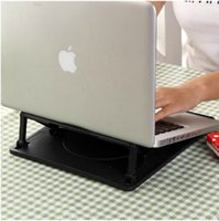 Wholesale simple lifting folding portable computer rack cooling rotation base