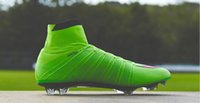 Wholesale World Cup whole green one Magista Soccer Shoes Magista High ankle For Football Boots Outdoor Mens Football Shoes Soccer Cleats Green