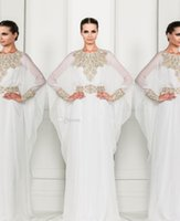 Cheap Reference Images Arabic Evening Dresses Best A-Line High Neck white evening dresses