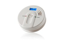 CO detector carbon monoxide detector - 1 Piece Of UH New Smart CO Carbon Monoxide Detector Alarm Sensor with LCD Display Blue
